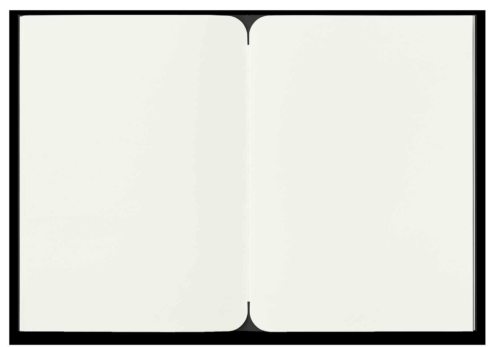 Edition Mondphasen Notizheft L Schwarz blanko