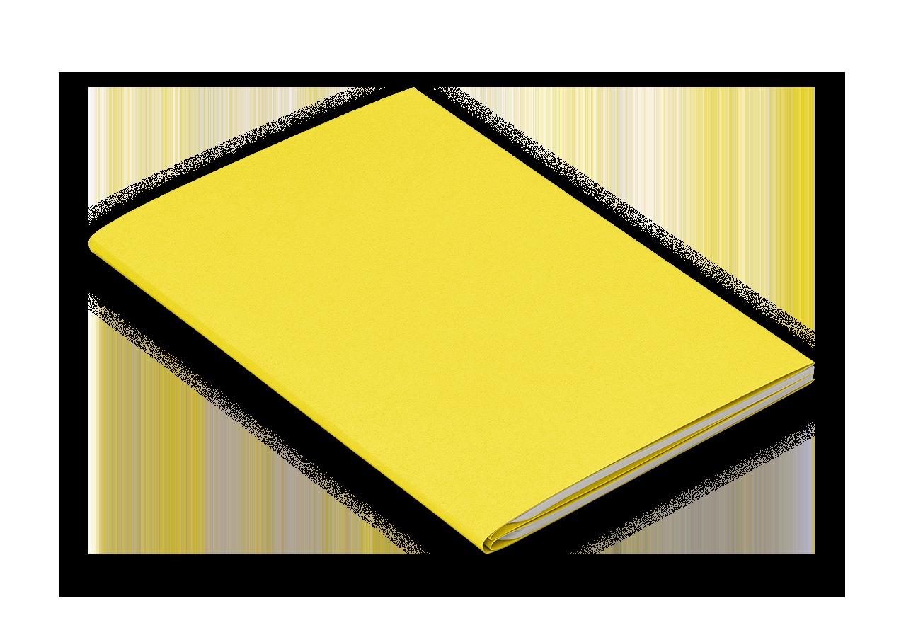 Notizheft M gelb blanko